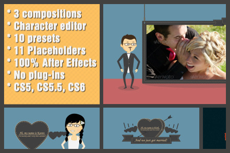 Wedding Cartoon Character - After Effects Template - After Effects