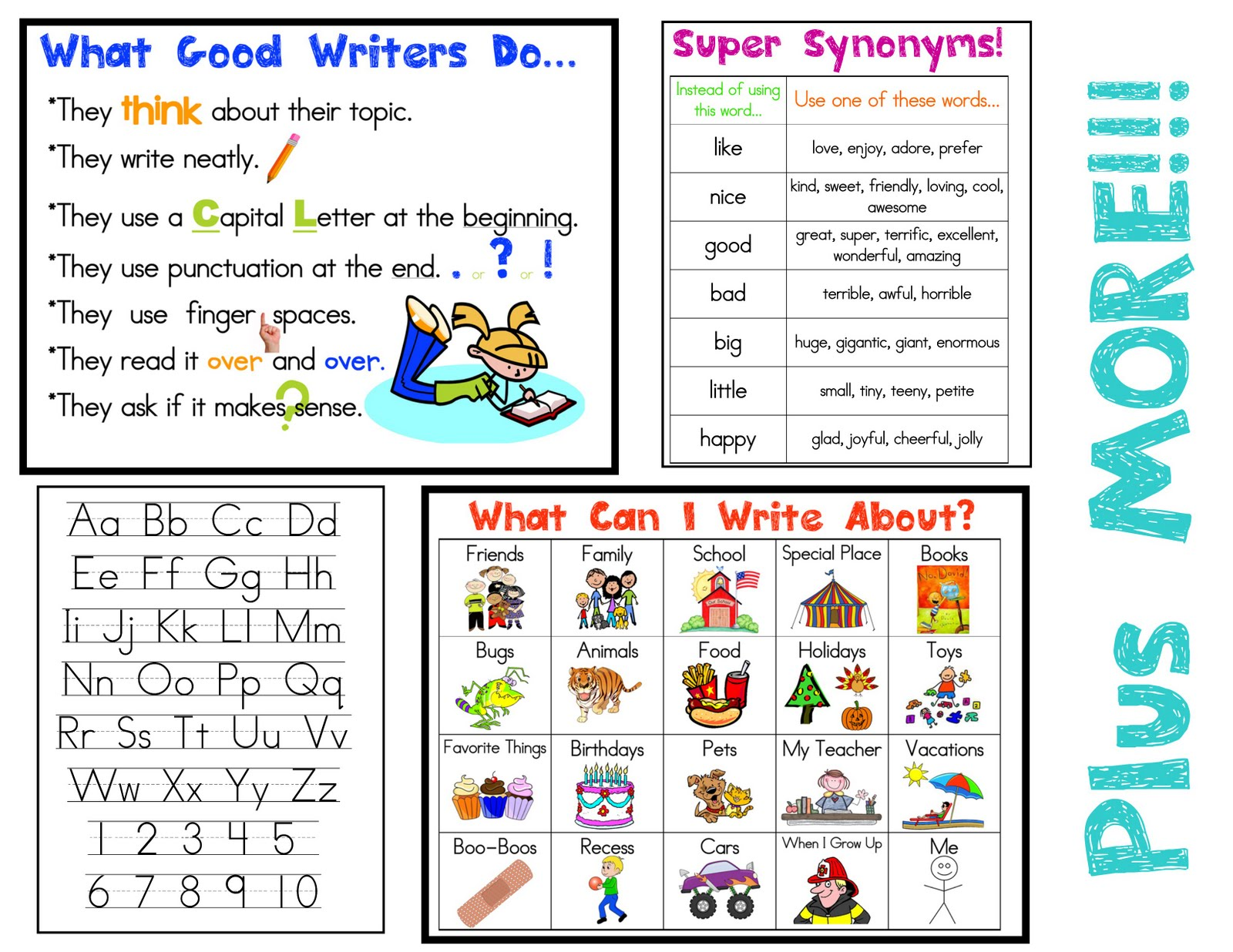 writing activities for second grade centers