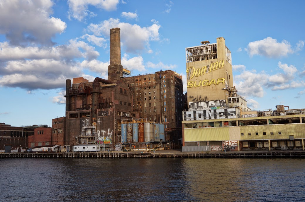 Domino Sugar Refinery in Williamsburg Brooklyn from the East River