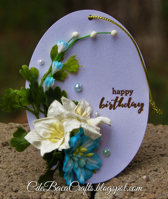 Happy birthday gift tags by CdeBaca Crafts Blog