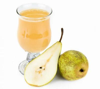 zumo de pera para adelgazar y bajar de peso