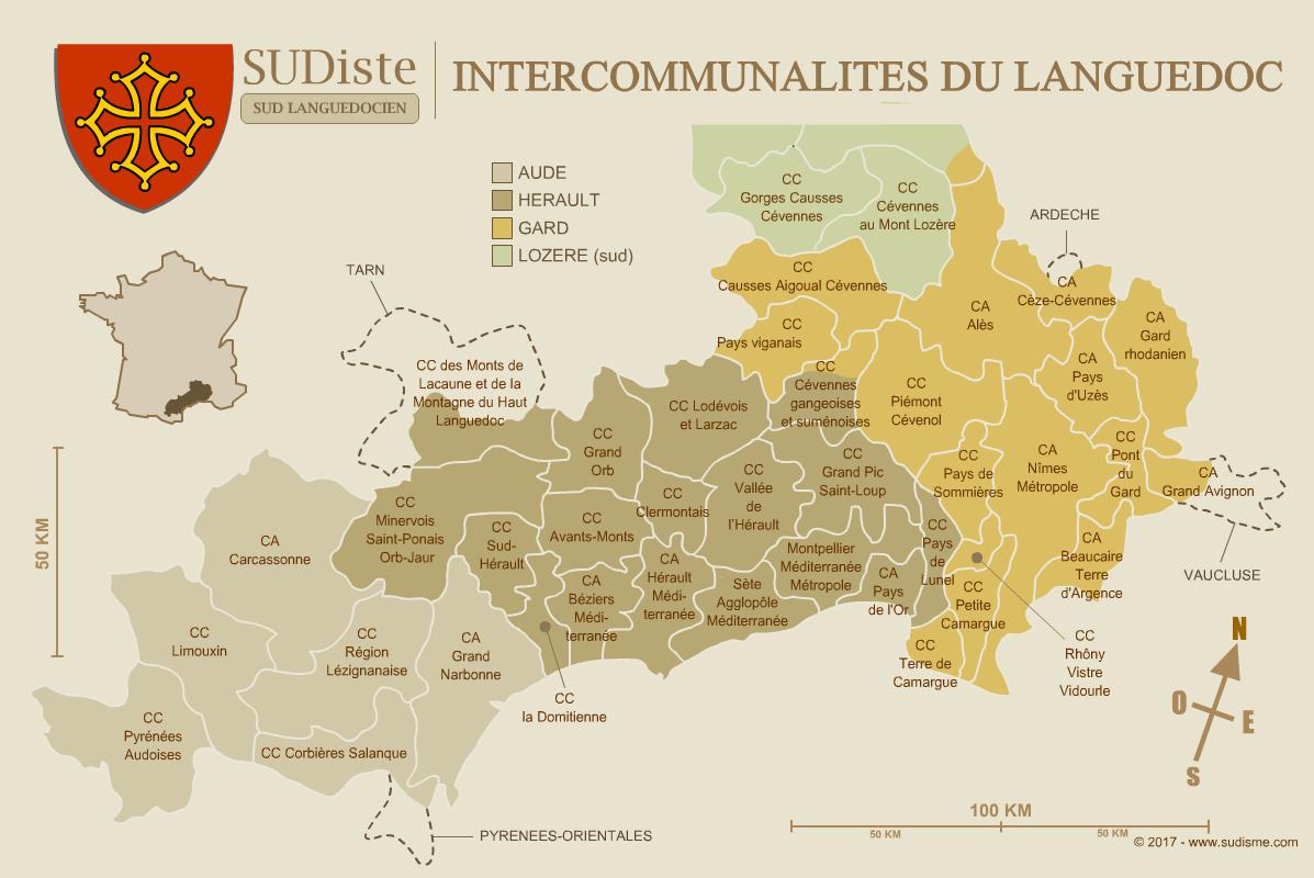 Agglomérations du Languedoc