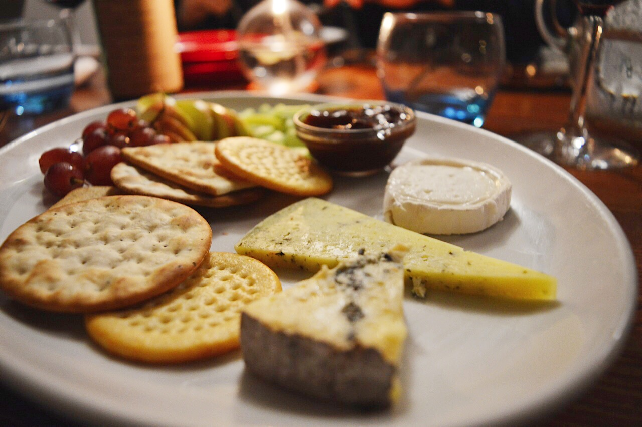 Cheese board selection at The Three Cups, The Three Cups in Stockbridge review, food bloggers UK