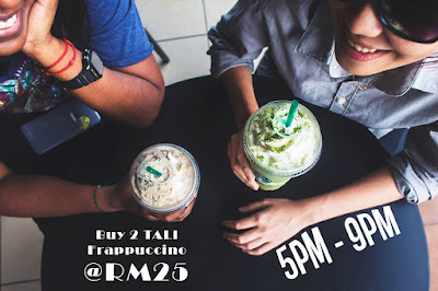 Starbucks Frappuccino RM25 Discount Promo Friday