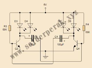 skematik, rangkaian, cara membuat rangkaian Flip FLop, skematik Flip flop, Flip Flop dengan ne555,