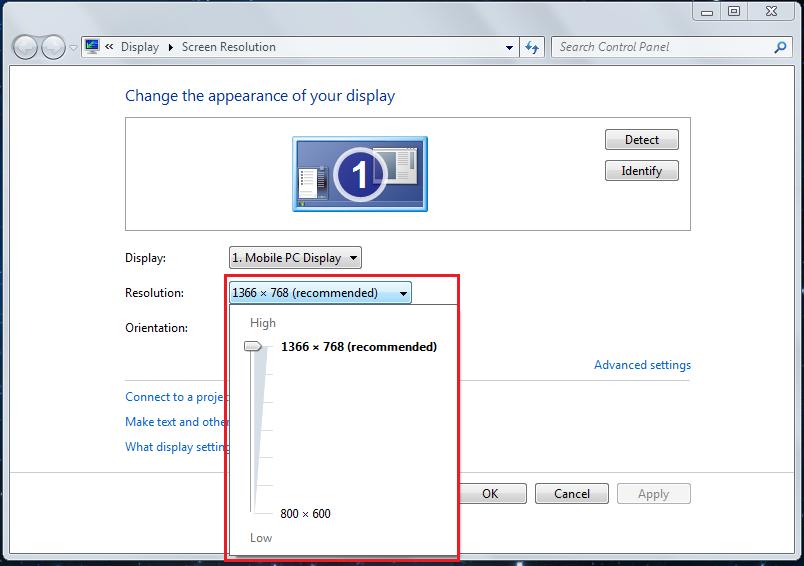 Ini merupakah langkah kedua cara mengatur screen resolution