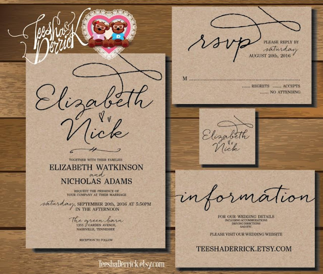 Wedding Invitations And Rsvp Packages