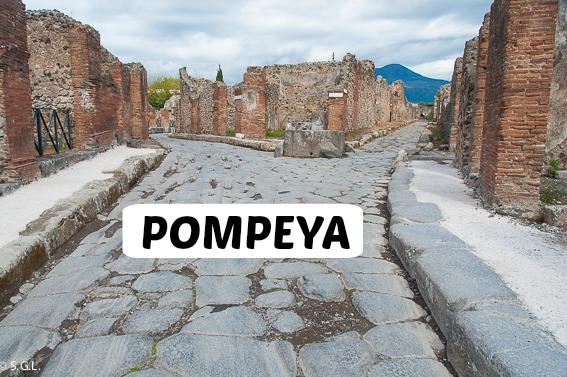 Pompeya. Miniguia ruinas ciudad romana. Italia