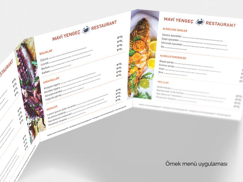 Mavi Yenge� Restaurant Kurumsal Kimlik Paketi