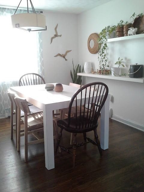 dining room updates ikea Skogsta chairs