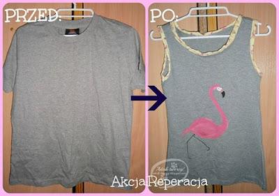 Akcja:Reperacja u Adzika - przeróbka t-shirtu z lumpeksu pomysły