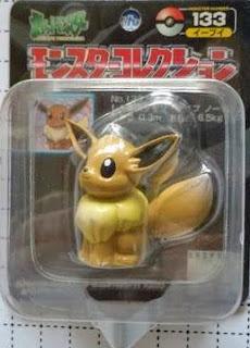 Eevee Pokemon figure Tomy Monster Collection black package series