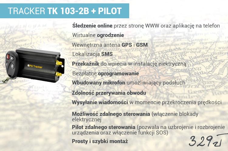 Specyfikacja produktu: TRACKER TK 103-2B + PILOT