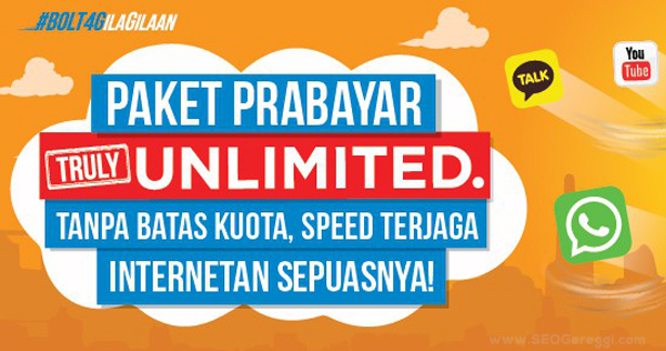 Paket Prabayar Internet Unlimited Bolt 4G LTE