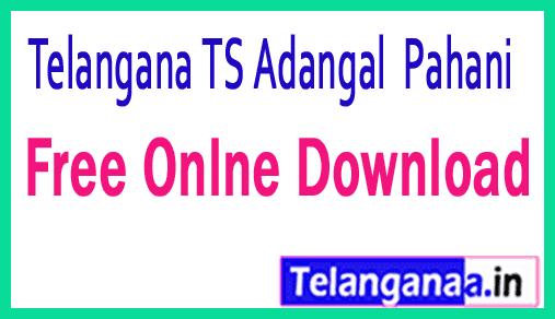 Telangana TS Adangal Pahani Free Online Download mabhoomi telangana
