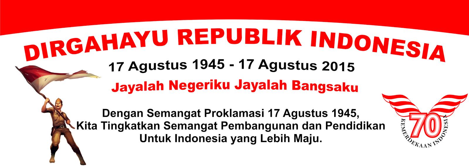 Contoh Desain Spanduk HUT Kemerdekaan Indonesia Ke 70
