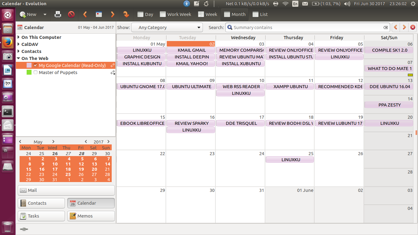 How To Setup Evolution for Google Calendar (Read-Only Access)