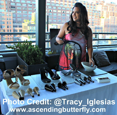 Moraima DiMare CEO of Attrenti Shoes, Attrenti Shoe Launch Gaansevort Hotel Meat Packing District Plunge Bar and Lounge, New York City, Rooftop Lounge