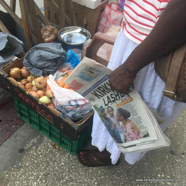 vegetable stand in Bridgetown, Barbados