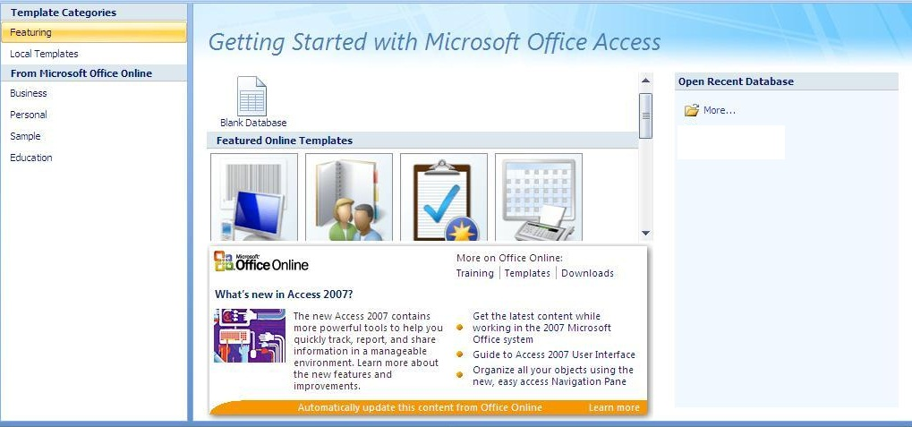 ms access 2007 tutorial free download