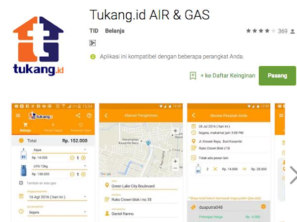 Bisa Sekarang Pesan Gas LPG dan Air Galon Bisa Coba Pertimbangkan lewat Aplikasi Tukang.id
