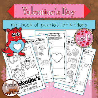 The Puzzle Den - Valentine's Day mini book for Kinders