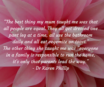 The best advice my mum gave me: Dr Karen Phillip, Counselling Psychotherapist