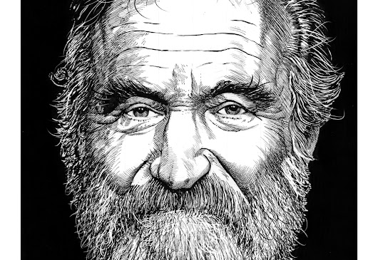 Robin Williams, ink drawing.