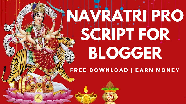 Navratri free festival wishing website script for blogger 2018