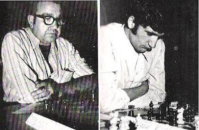 Los ajedrecistas Delfín Burdío y Pedro María Zabala