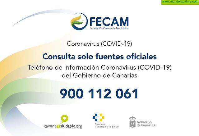Teléfono de información Coronavirus COVID-19 del Gobierno de Canarias