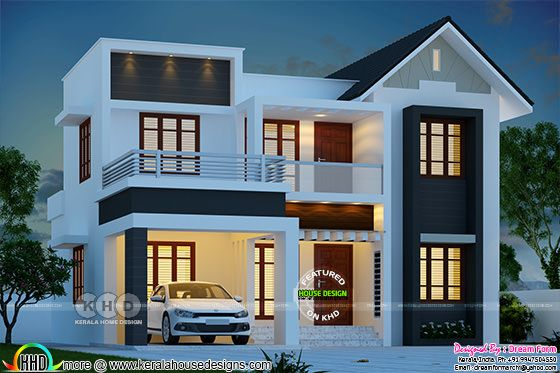 4 bedroom 1780 sq.ft modern home design