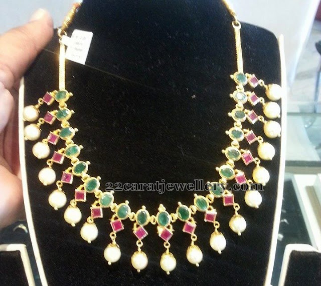 Ruby and Emerald Necklace 50gms