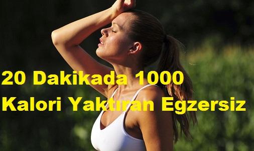 20 Dakikada 1000 Kalori Yaktıran Egzersiz