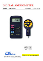 Jual Anemometer Lutron AM-4200 Hub : 0812-8222-998