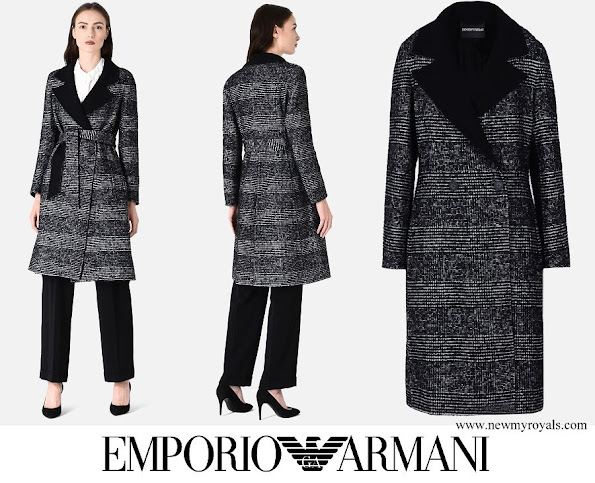 Princess Marie wore EMPORIO ARMANI Mohair Blend Double-Cloth Coat