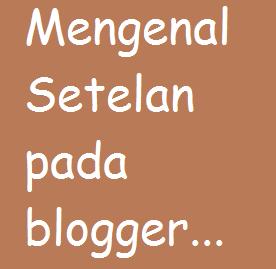 Mengenal Setelan pada blogger serta fungsinya