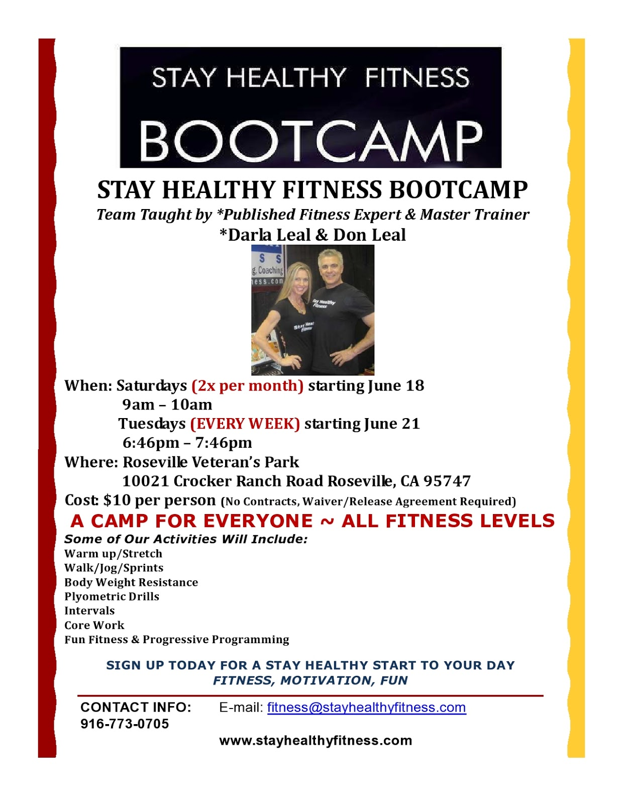 STAY HEALTHY FITNESS: YES… I said Bootcamp