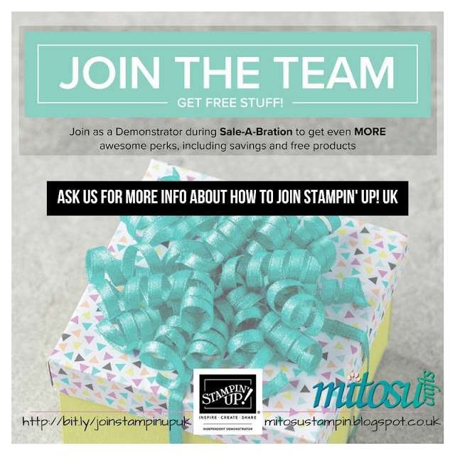 Join Stampin' Up! UK Team with Mitosu Crafts for SU craft discounts, savings and exclusive offers