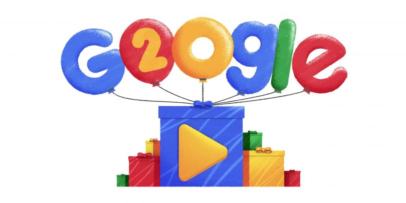 Google celebrates its 20th anniversary with a very special video doodle