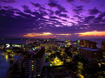 Cancun Awesome Mexican City Twilight Mexico Hd Desktop Wallpaper