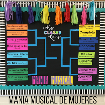 mania musical de mujeres - March Music Bracket for Spanish class