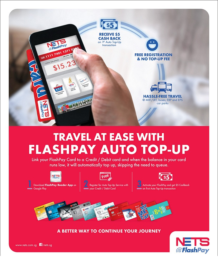 How to set up auto top up on your Nets Flashpay card - Vu