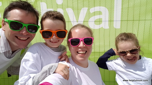 Family fun colour run