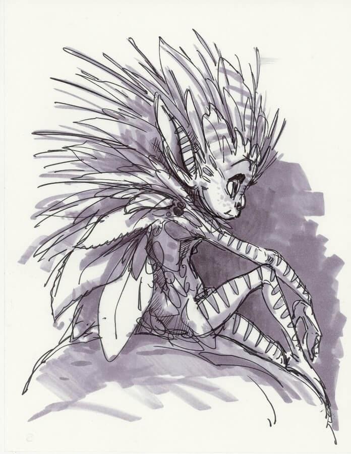11-Aaron-Blaise-Creature-Sketches-www-designstack-co