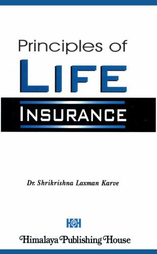 alt=Principles of Life Insurance by Shrikrishna Laxman Karve