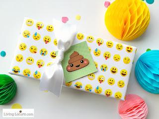 free emoji gift wrap