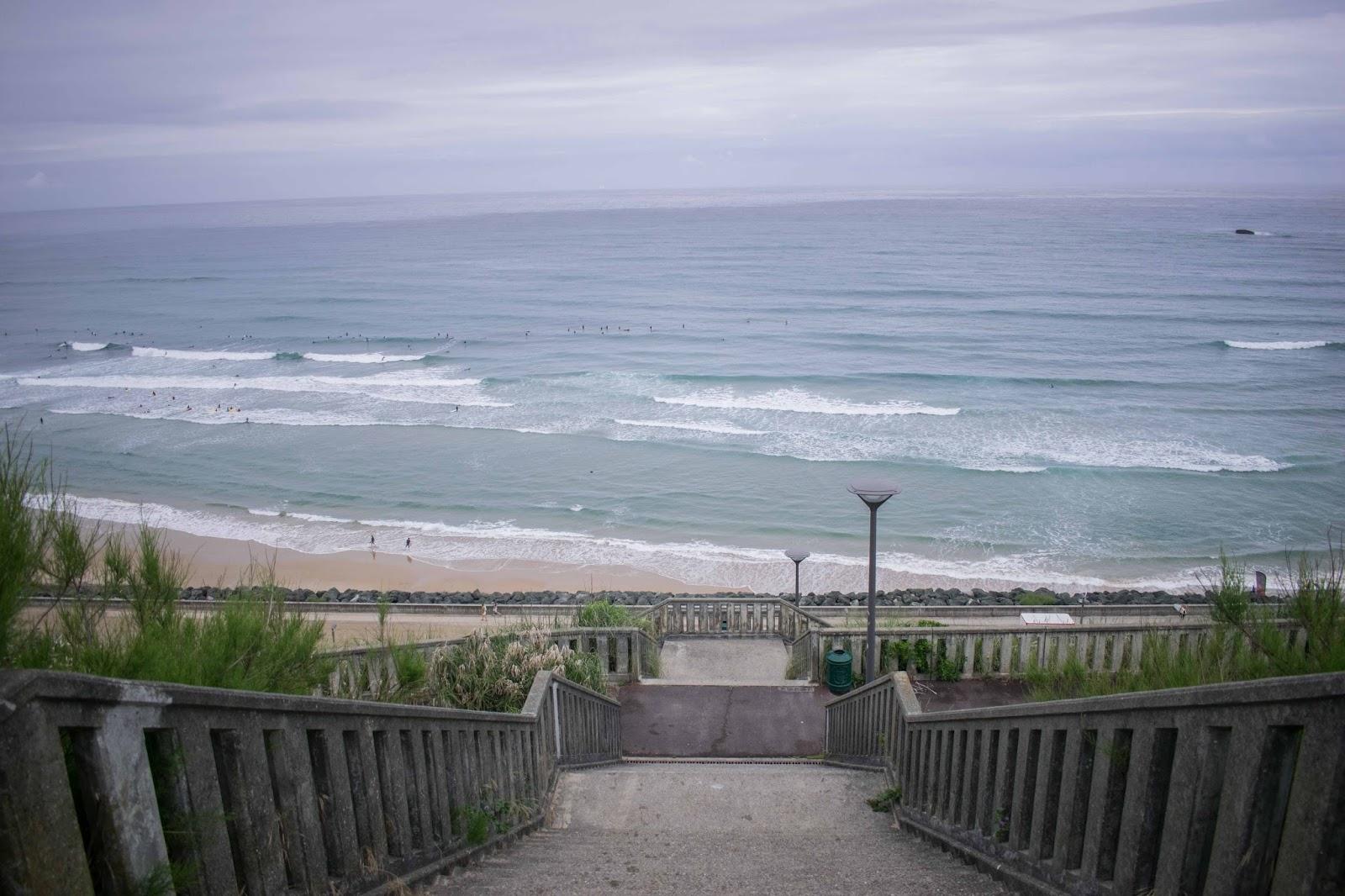 plage, océan, biarritz