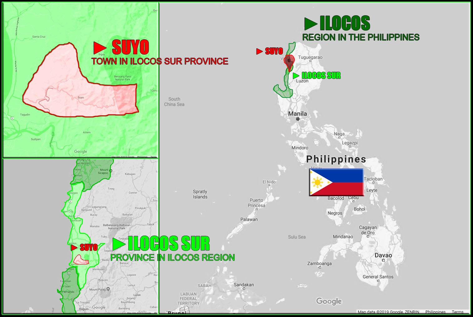 MAP OF SUYO, ILOCOS SUR