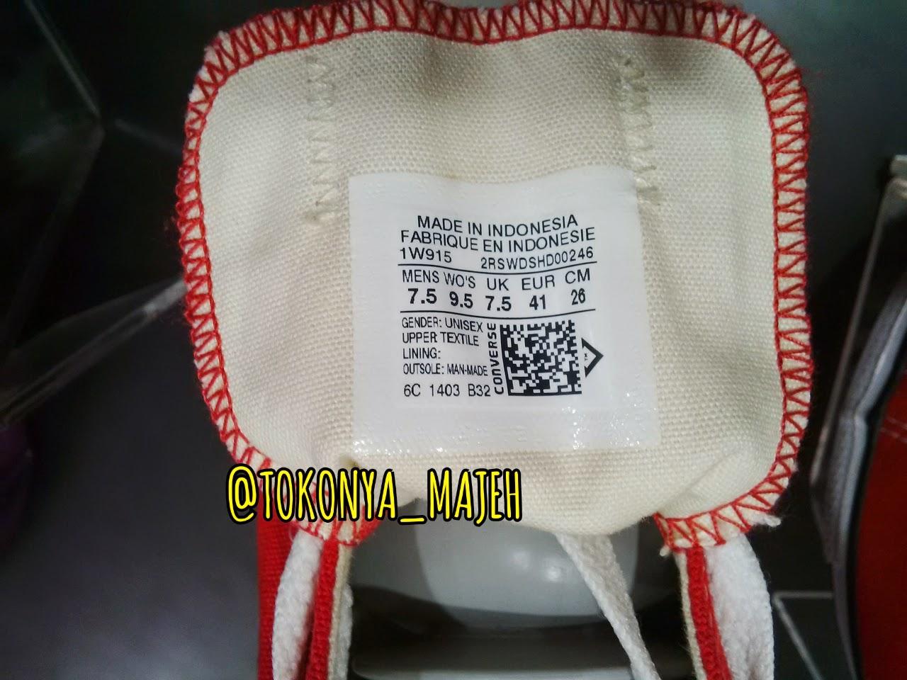 Ciri Sepatu Converse Original Made In Indonesia, Lengkap